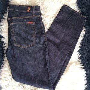 7 for all mankind slimmy jeans dark wash slim s36